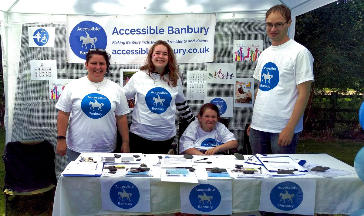 Our team raising awareness of issues affecting people with disabilities