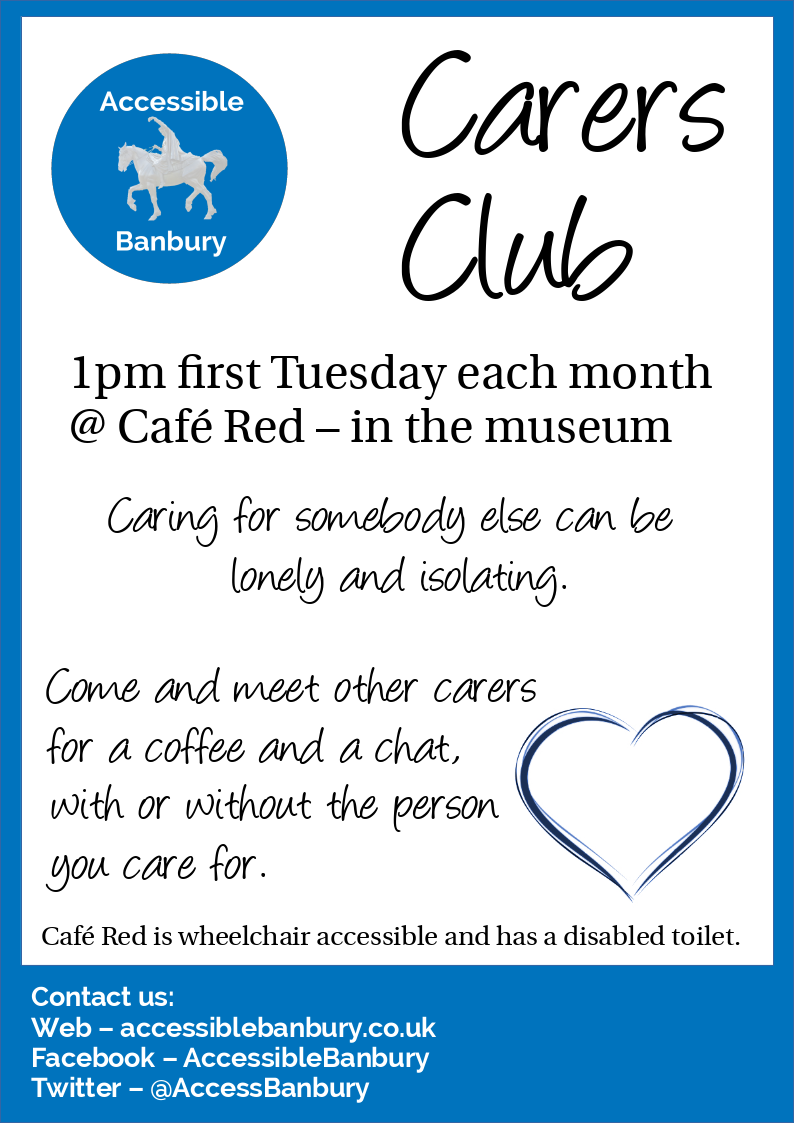 Carers Club 1pm first Tuesday every month @ Cafe Red